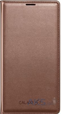 Чехол Samsung Flip Wallet Cover для Galaxy S5 Rose Gold (EF-WG900BFEG)