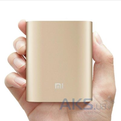 Внешний аккумулятор power bank Xiaomi Power Bank NDY-02-AD, 10400mAh Gold