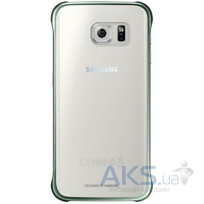 Чехол Samsung Clear Cover G925 Galaxy S6 Edge Green (EF-QG925BGEGRU)