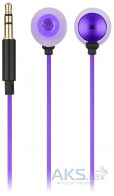 Наушники (гарнитура) KS Ace In-Ear Headphones with mic Purple