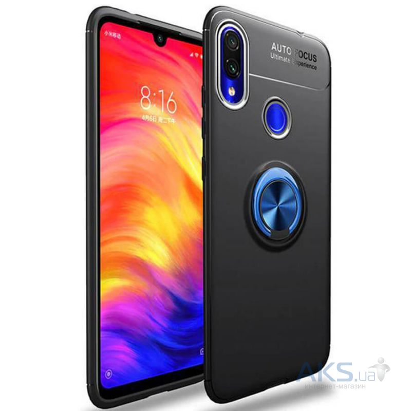 Чехол 1TOUCH Deen ColorRing Xiaomi Redmi Note 7, Redmi Note 7 Pro Black Blue