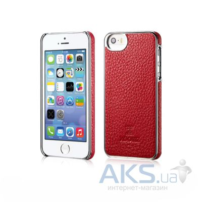 Чехол Xoomz Litchi Pattern Leather Electroplating Apple iPhone 5, iPhone 5S, iPhone 5SE Red