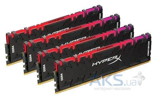 Оперативная память Kingston 32 GB (4x8GB) DDR4 2933 MHz HyperX Predator RGB  (HX429C15PB3AK4/32)