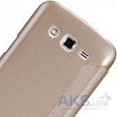 Вид 3 - Чехол Nillkin Sparkle Leather Series Samsung G7102 Galaxy Grand 2 Gold