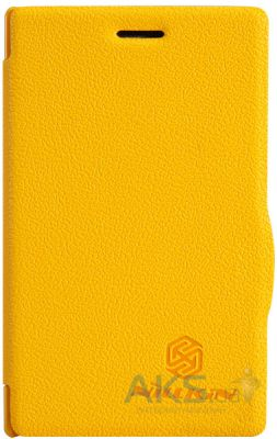 Чехол Nillkin Fresh Leather Series Nokia Asha 502 Yellow
