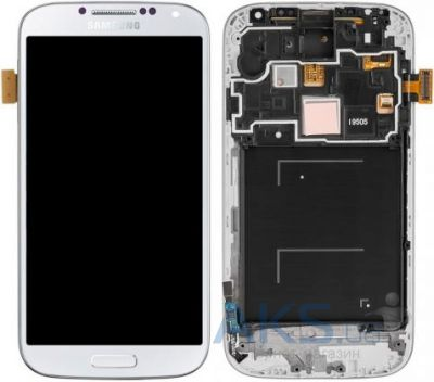 Дисплей (экраны) для телефона Samsung Galaxy S4 I9505 + Touchscreen with frame Original White