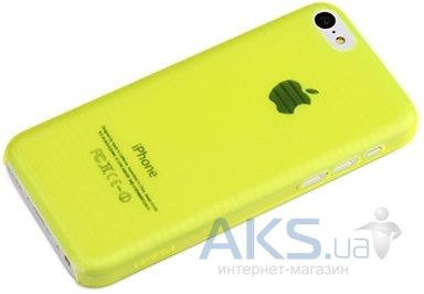 Чехол Rock Texture Shell Series Apple iPhone 5C Yellow