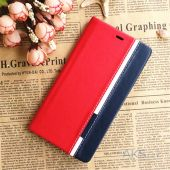 Вид 4 - Чехол Original Book Stripe Series Doogee Y300, Y300 Pro Black - Red
