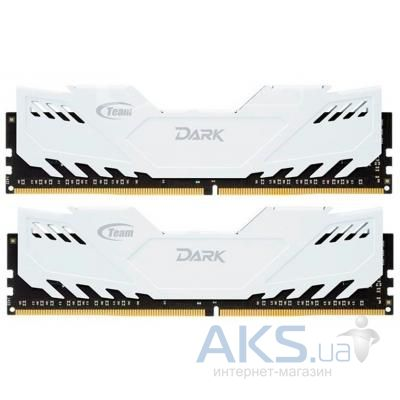 Оперативная память Team DDR3 8GB (2x4GB) 1600 MHz Dark Series White (TDWED38G1600HC9DC01)