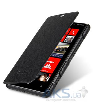 Чехол Melkco Book leather case for Nokia Lumia 820 Black (NKLU82LCFB2BKLC)