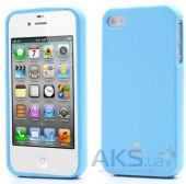 Чехол Mercury TPU Jelly Color Series Apple iPhone 4, iPhone 4S Blue