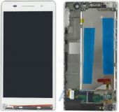 Дисплей (экраны) для телефона Huawei Ascend P6-U06 + Touchscreen with frame Original White