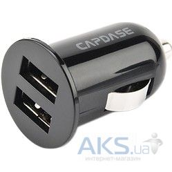 Зарядное устройство Capdase Dual USB Car Charger&Cable Pico F2S (1A/2.1 A) for Smartphone/Tablet Black (TKSGN8000-PS01)