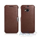 Чехол iCarer Litchi Pattern for HTC One (M8) Coffee