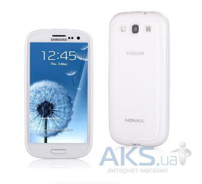 Чехол Plastic cover case for Samsung i9300 Galaxy S3 White