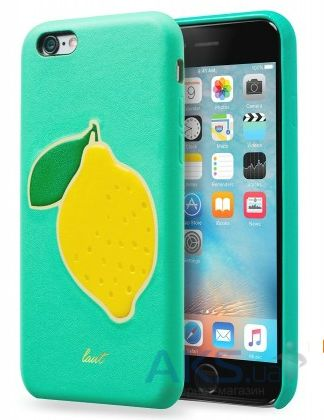 Чехол Laut Kitsch Series Apple iPhone 6, iPhone 6S Turquoise Lemon (LAUT_IP6_KH_TU)