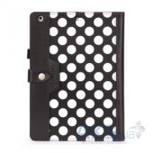 Вид 2 - Чехол для планшета Griffin Back Bay Folio Apple iPad Air Polka Black/White/Purple (GB37899)