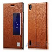 Чехол Xoomz Litchi Pattern Leather для Huawei Ascend P7 Brown