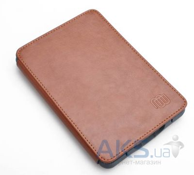 Обложка (чехол) MyBook Leather Cover Brown with LED light for Kindle Touch Brown