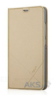 Чехол MSVII Leather Stand Series Meizu M3 Note Gold