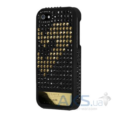 Чехол Lucien Elements Hearts Exclusive Selections D'or/Black for iPhone 5/5S Black / Gold