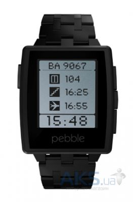 Умные часы Pebble Watch Steel Matte Black
