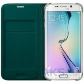 Вид 3 - Чехол Samsung Fabric Flip Wallet Cover G925 Galaxy S6 Edge Green (EF-WG925BGEGRU)