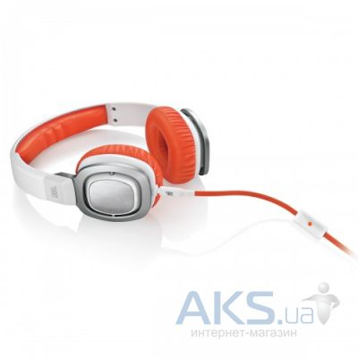 Наушники (гарнитура) JBL On-Ear Headphone J55A White/Orange (J55AWOR)