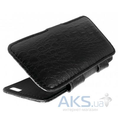 Чехол Sirius book case for Doogee X5 Croco Black