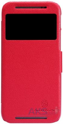 Чехол Nillkin Sparkle Leather Series HTC One M9 Red