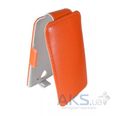 Чехол Sirius flip case for Lenovo A505E Orange