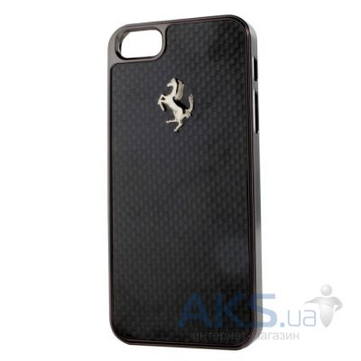 Чехол Ferrari Carbon Cover Apple iPhone 5, iPhone 5S, iPhone SE Black [FECBGUHCP5B]