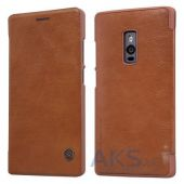 Вид 2 - Чехол Nillkin Qin Leather Series OnePlus 2 Brown
