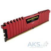 Оперативная память Corsair 4Gb DDR4 PC2400 Vengeance LPX Red