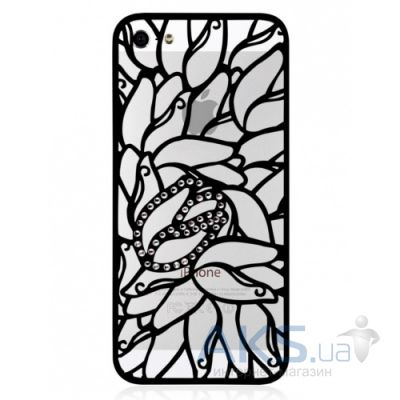 Чехол Alef Design Swarovski Elements Tulip Apple iPhone 5, iPhone 5S, iPhone SE Black (AD8536)