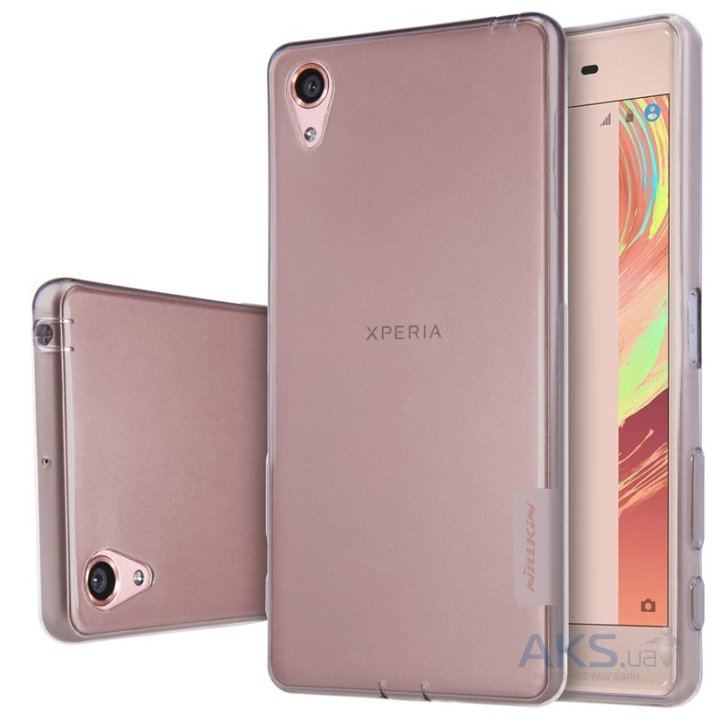 Чехол Nillkin Nature Series Sony Xperia X Performance Transparent Gray