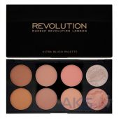 Палетка из 8 румян Makeup Revolution Blush Palette Hot Spice