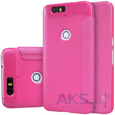 Чехол Nillkin Sparkle Leather Series Huawei Nexus 6P Pink