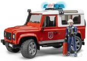 Іграшка Bruder Пожежний Land Rover Defender + фігурка пожежника М1: 16 (02592)