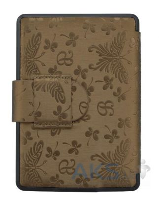 Обложка (чехол) Leather case for Amazon Kindle Paperwhite Butterfly Gold Brown