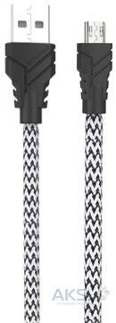 Кабель USB Awei micro USB Fast Data Cable Black / White CL-800