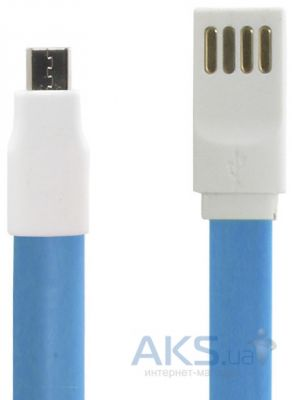 Кабель USB Gelius Gold Edition Flat MicroUSB Blue