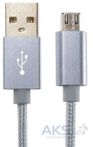 Кабель USB Gelius Metallic Edition MicroUSB Grey