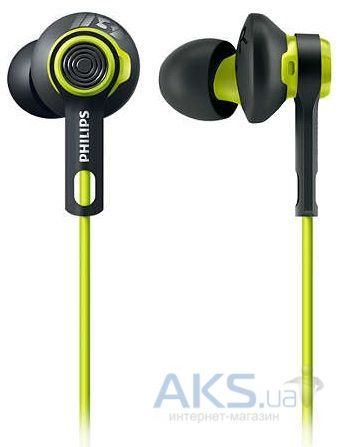 Наушники (гарнитура) Philips ActionFit SHQ2400CL/00 Carbon lime