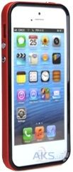 Чехол Uniico Combination Bumper 3in1 Apple iPhone 5, iPhone 5S, iPhone 5SE Black-Hot Red
