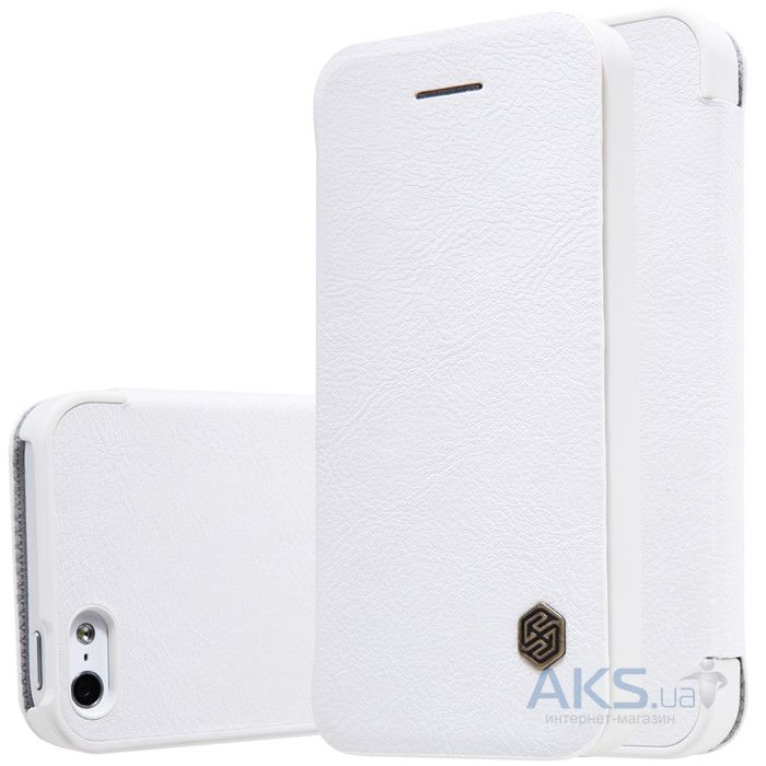 Чехол Nillkin Qin Leather Series Apple iPhone 5, iPhone 5S, iPhone SE White