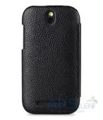 Вид 3 - Чехол Melkco Leather Case Jacka Face Cover Book for HTC One SV C520e Black (O2ONSTLCFB2BKLC)