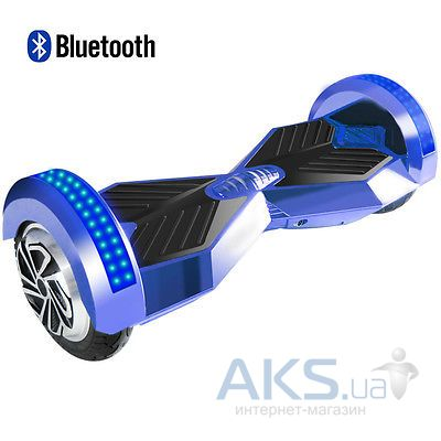 "Гироскутер SmartBalance R3 8"" with LED and BT Speaker + пульт и сумка Blue"