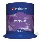 Диск Verbatim DVD+R 4.7Gb 16X CakeBox 100шт (43551)