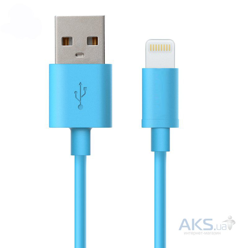 Кабель USB GOLF USB cable Lightning Rainbow series Blue